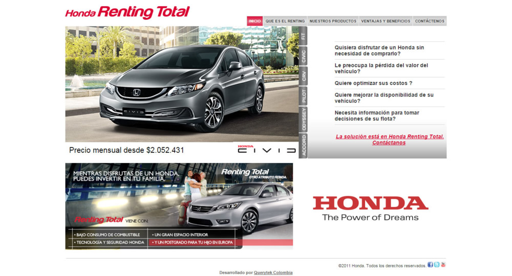 Honda Renting Total