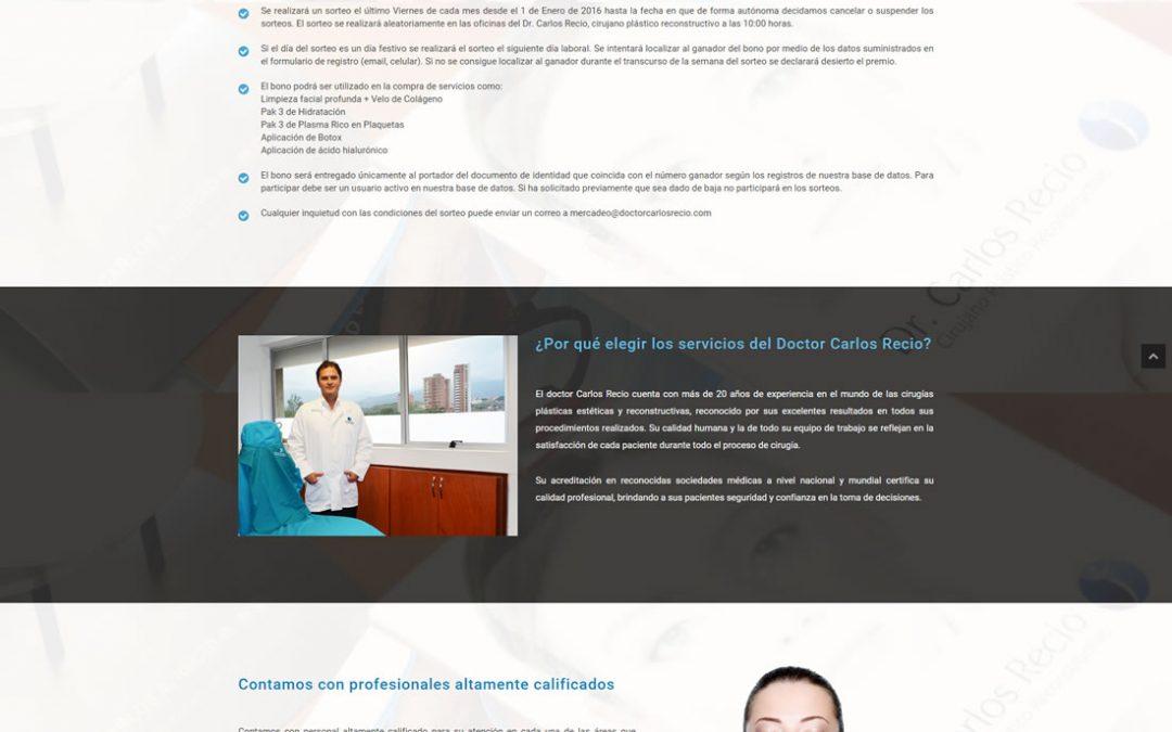 Dr. Carlos Recio – Landing Page